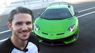 Daniel Abt testet den Lamborghini Aventador bei TV NOW
