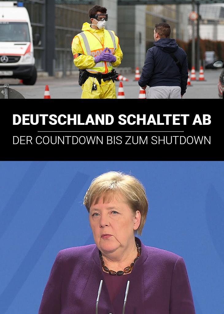 Deutschland schaltet ab - der Countdown bis zum Shutdown
