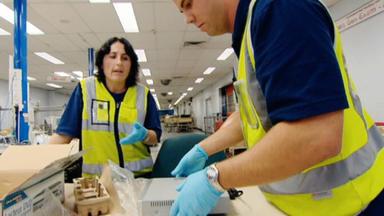 Achtung, Zoll! Willkommen In Australien - Ein Passagier Fällt Den Beamten Auf