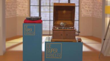 Die Superhändler - 4 Räume, 1 Deal - Tischgrammophon \/ 70er Designensemble