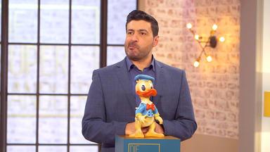 Die Superhändler - 4 Räume, 1 Deal - Donald Duck Figur \/ Silberleuchter \/ Foley Vase \