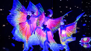 Das Supertalent - Lichtshow Und Tanzperformance