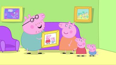 Peppa Pig - Papa Hängt Ein Bild Auf