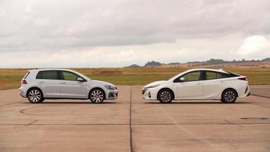Auto Mobil - Thema U.a.: Vergleichstest Golf E Vs. Toyota Prius