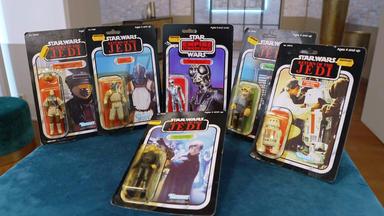 Die Superhändler - 4 Räume, 1 Deal - Star Wars Figuren 80er (ovp) \/ Bleiglasfenster \/ Louis Vuitton Koffer \/ Ananaslampe