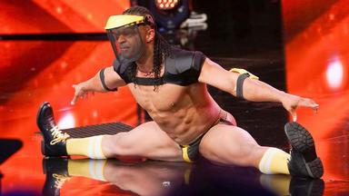 Das Supertalent - Luftakrobatik, Crossover-tenor & Stripshow