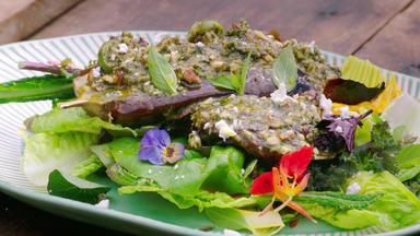 Jamie Oliver: 7 Mal Anders - Familienrezepte Für Die Ganze Woche - Auberginen-salat Mit Minze