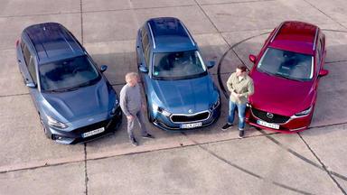 Auto Mobil - Thema U.a.: Vergleichstest Skoda Octavia - Mazda 6 Kombi - Ford Focus Turnier