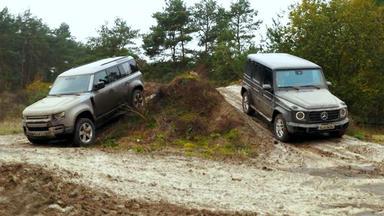 Auto Mobil - Thema U.a.: Offroad-test Rover Defender Vs. Mercedes G-klasse