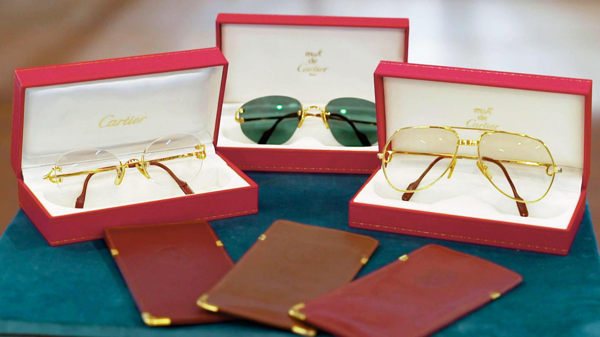 """Drei Brillen von Cartier ca. 70er Jahre & Etuis / """"Hans Kögl"""" Blumenampel   Folge 25"""