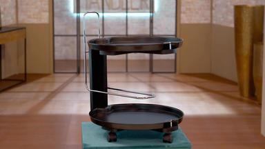 Die Superhändler - 4 Räume, 1 Deal - Rosenthal Service-cart Waldemar Rothe \/ Hans Kögl Stehlampe 70er Jahre