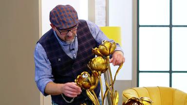 Die Superhändler - 4 Räume, 1 Deal - Blumenstehlampe Hans Kögl \/ Statuette \