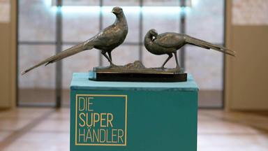 Die Superhändler - 4 Räume, 1 Deal - Bronze Fasanengruppe Von Otto Poertzel \/ Warsteiner Emailleschild \/ Deckeldose