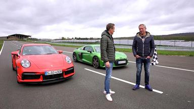 Grip - Das Motormagazin - Allrad-supersportler - Audi R8 V10 Performance Vs. Porsche 911 Turbo