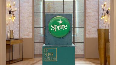Die Superhändler - 4 Räume, 1 Deal - Sprite Außenwerbung 60\/70er Jahre \/ Kelly Family Weste (mit Promi Kathy Kelly)