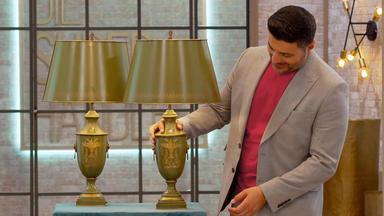 Die Superhändler - 4 Räume, 1 Deal - 2 Leuchten Italien \/ Gucci Backgammon-koffer \/ Jacobs Kaffee Vitrine 50er \/ Olympia Konvolut